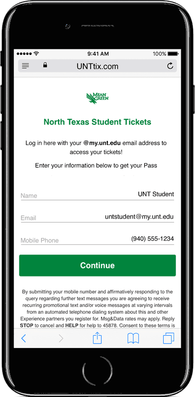 Accessing Student Tickets On A Mobile Device Step