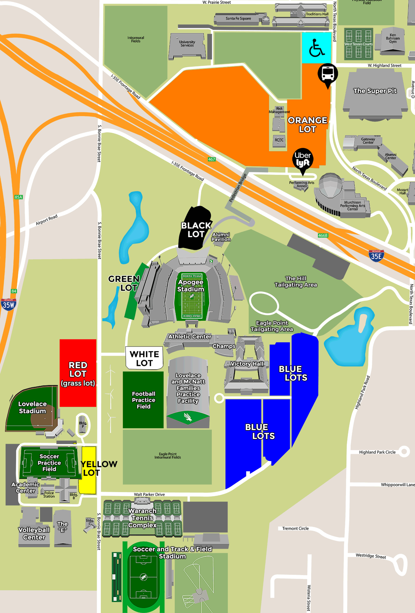Apogee Stadium Parking - University of North Texas Athletics on